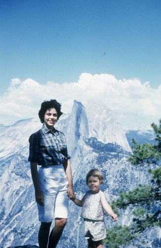Mom & me at half dome