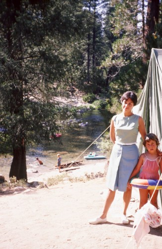 Mom & me in Yosemite campsite